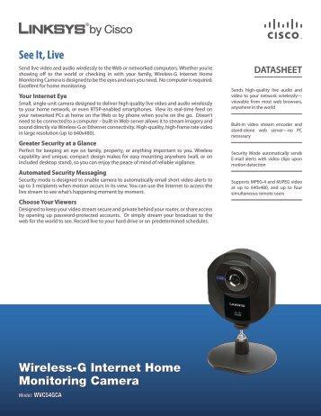 Linksys WVC54GCA Wireless-G Internet Home Monitoring Camera