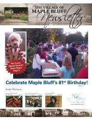 Celebrate Maple Bluff's 81st Birthday! - Village of Maple Bluff