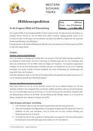 Höhlenexpedition - Western Sichuan Tours
