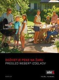 Doživetje peke na žaru Pregled Weber® izdelkov