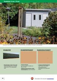Gartenhäuser in Elementbauweise Farbakzente setzen