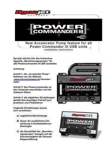 Accelerator Pump PCI.. - bei Micron Systems!