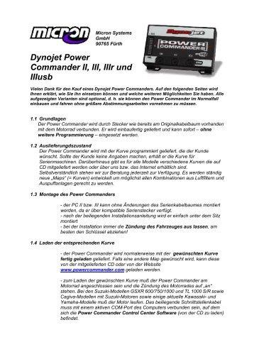Dynojet Power Commander II, III, IIIr und IIIusb - bei Micron Systems!