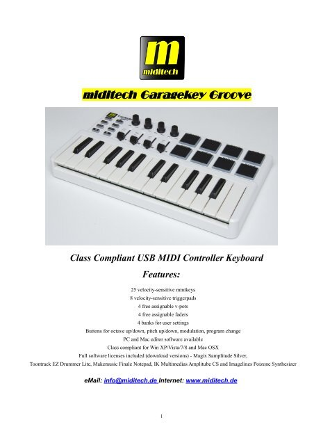 Standard Midi Controller (CC) numbers
