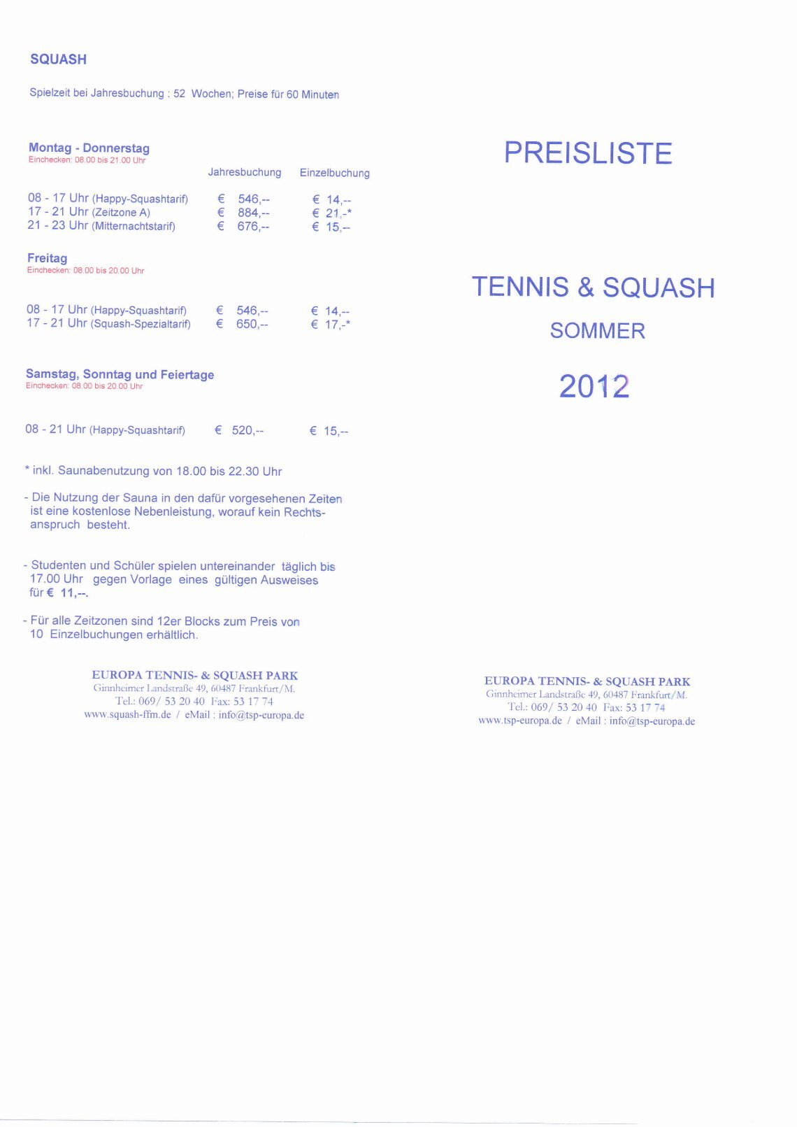 1 free Magazines from TSP.FRANKFURT.DE