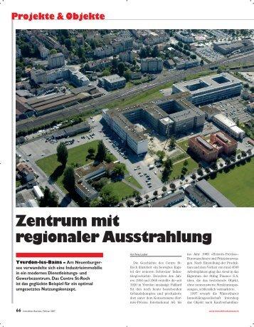 Zentrum mit regionaler Ausstrahlung - Intershop Holding AG