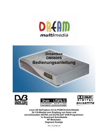 Dream multimedia Dm800 Manual