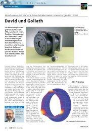 David und Goliath - Harmonic Drive AG