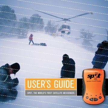 Spot Satellite Messeneger User Guide - Satellite Phones