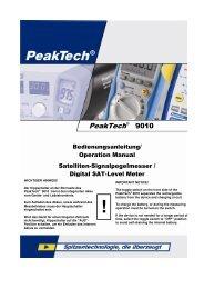 PeakTech_9010_kein Buchformat_102011 - ALBEDO Instruments