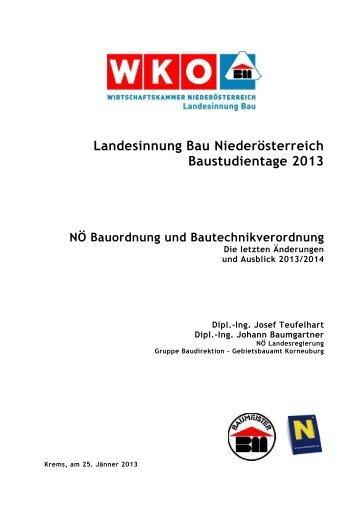 Vortrag - Landesinnung Bau