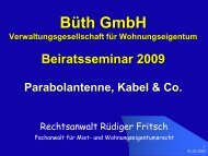 Infos zu Parabolantennen (PDF) - Büth GmbH