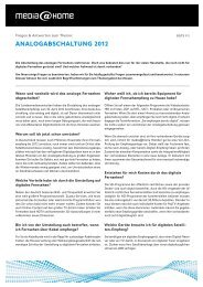 AnAlogAbschAltung 2012 - media@home