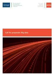 Call for proposals: Big data