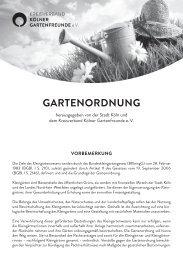 Gartenordnung 2013 - Kreisverband Köln der Kleingärtnervereine e.V.