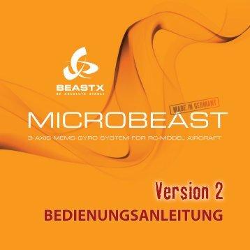BEDIENUNGSANLEITUNG - beastx - be absolute stable