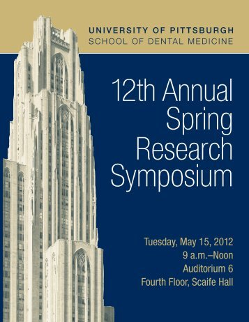 12th Annual Spring Research Symposium - School of Dental ...