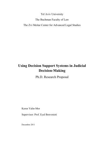 Using Decision Support Systems in Judicial Decision-Making