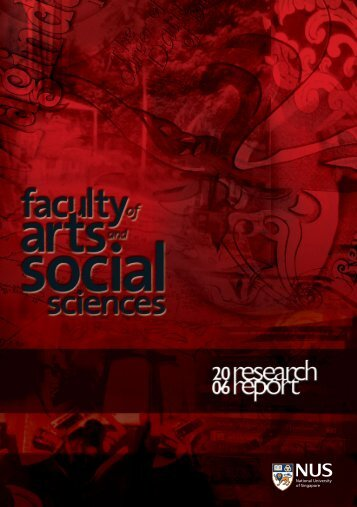 Research Report 2006 - Faculty of Arts and Social Sciences ...
