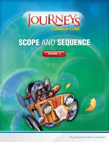 Grade 1 Scope and Sequence (3.5mb) - HMHEducation.com