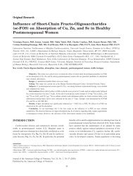 sc-FOS - Journal of the American College of Nutrition
