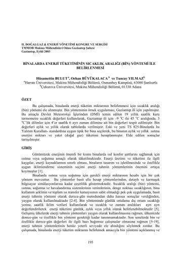 (Bin) Yöntemi ile - Mühendislik Fakültesi - Harran Üniversitesi