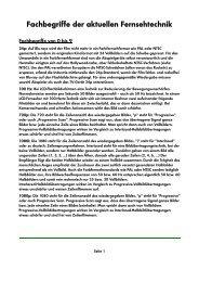 Fachbegriffe der aktuellen Fernsehtechnik - HTL Wien 10