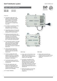 Sat-IF distribution system - Single-cable multi-switches ... - Kathrein