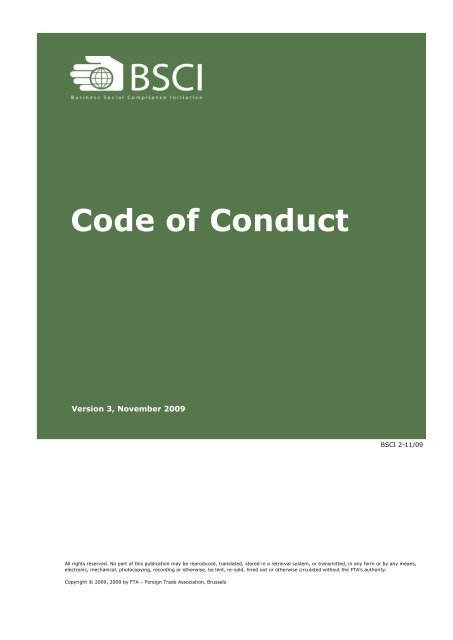 BSCI Code of Conduct - Intersport