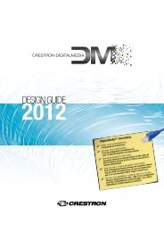 DigitalMedia™ Design Guide 2012 - Crestron