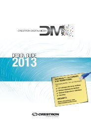 Crestron Digital Media Design Guide 2013