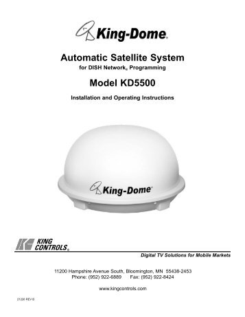 Instructions For Static Roadpro Satellite Domes Mantsbrite Systems