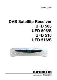 9362645a, Users Guide DVB Satellite Receiver UFD 506 ... - Kathrein