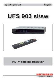 9363637b, Operating manual HDTV Satellite Receiver ... - Kathrein