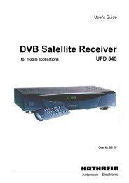 9986252-DVB Satellite Receiver UFD 545 - Kathrein