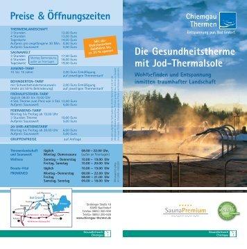 Die Gesundheitstherme mit Jod-Thermalsole rs Preise ... - Bad Endorf