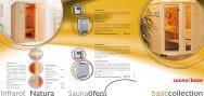 Prospekt und Preisliste von Saunalux