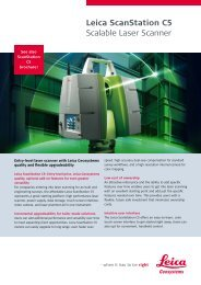 Leica ScanStation C5 Scalable Laser Scanner - Northern Survey ...