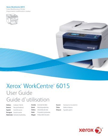WorkCentre 6015 Color Multifunction Printer - Xerox Support and ...