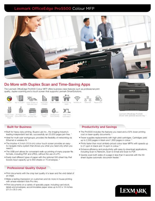 Do More with Duplex Scan and Time-Saving - Lexmark