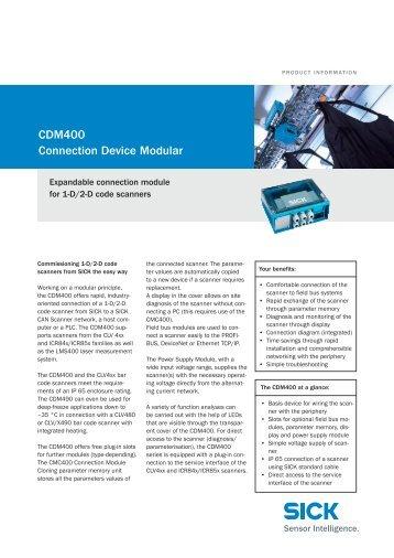cDm400 connection Device modular - Mysick.com