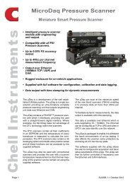 MicroDaq Pressure Scanner - Chell Instruments