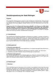 Gestaltungssatzung Fassung 160309 - Stadt Röttingen