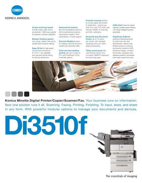 Konica Minolta Digital Printer/Copier/Scanner/Fax  Your