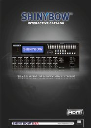 INTERACTIVE CATALOG - ShinybowUSA