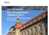 Workshop 2: Green-IT am Arbeitsplatz BMWi (PDF