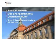 Workshop 2: Green-IT am Arbeitsplatz BMWi (PDF