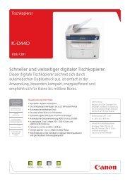 Schneller und vielseitiger digitaler Tischkopierer.