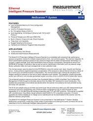 Ethernet Intelligent Pressure Scanner