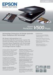 Hochwertiger Fotoscanner mit Energie sparender Epson ...